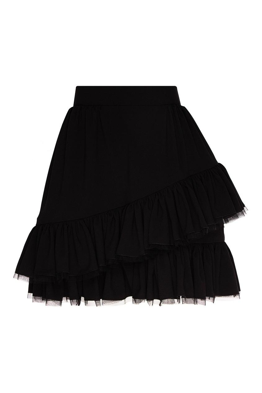женская юбка мини ulyana sergeenko, черная