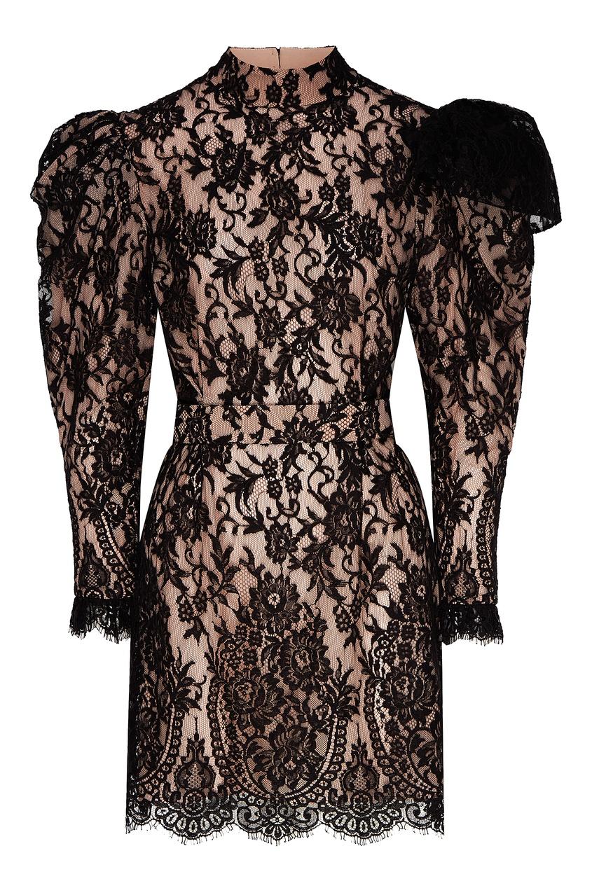 женское платье мини ulyana sergeenko, черное