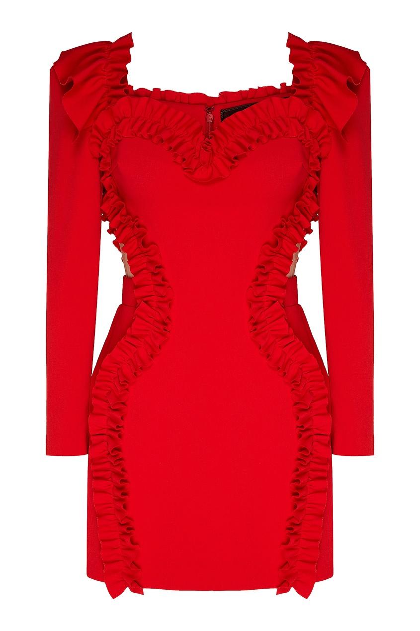 женское платье мини ulyana sergeenko, красное