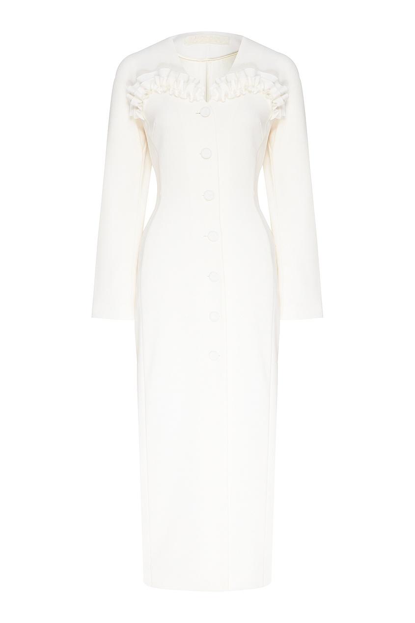 женское платье миди ulyana sergeenko, белое