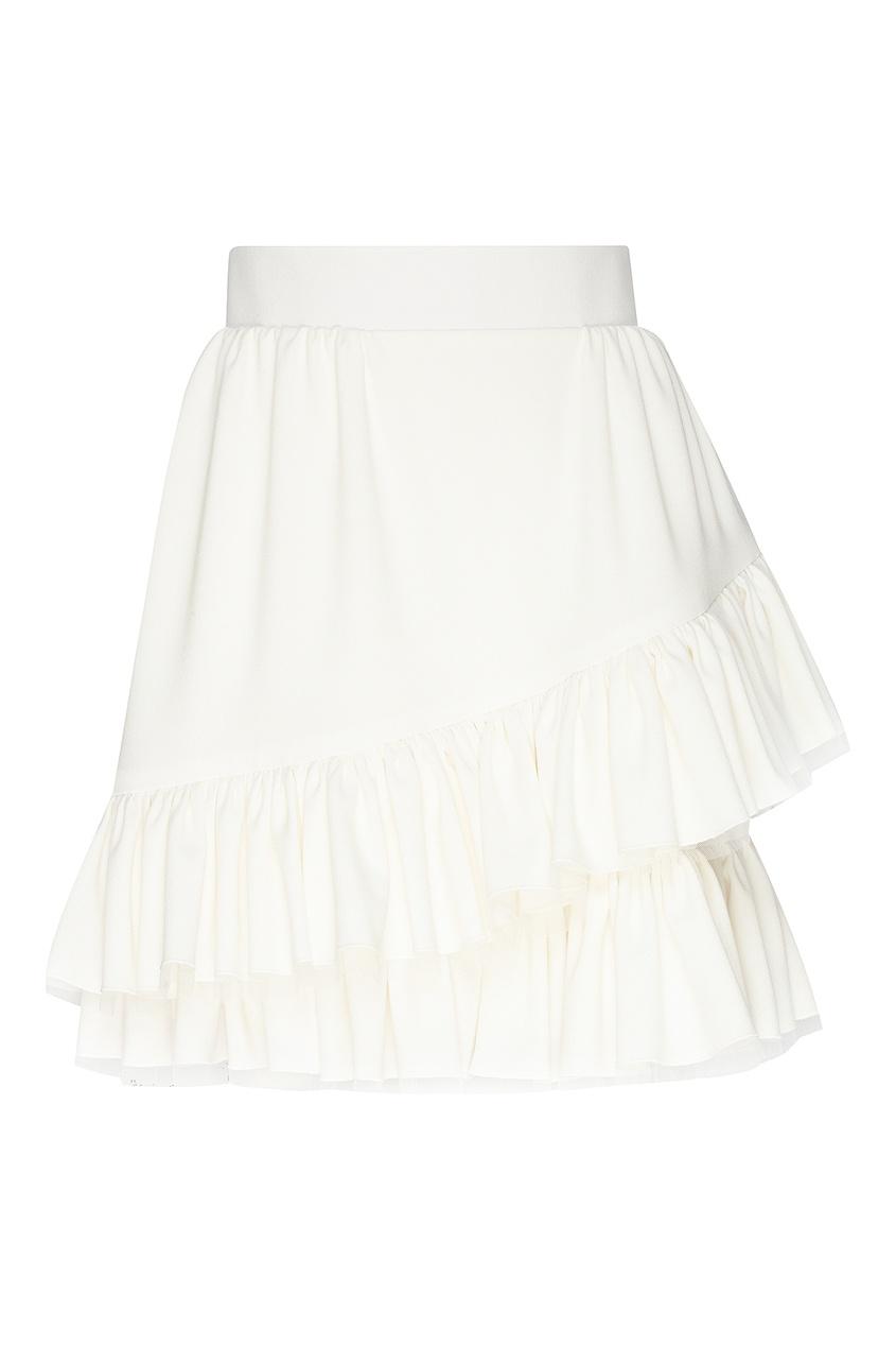 женская юбка мини ulyana sergeenko, белая