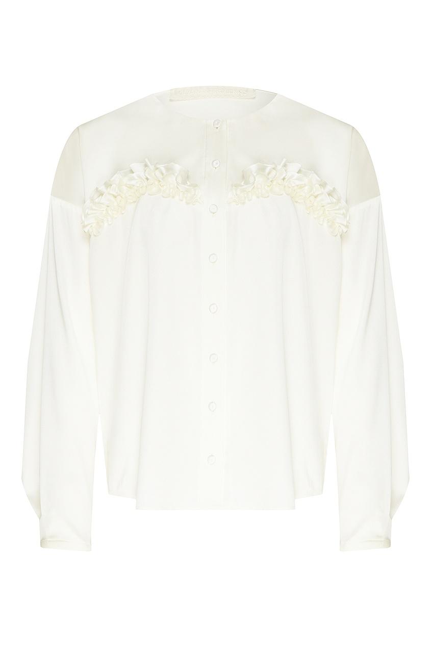 женская блузка ulyana sergeenko, белая