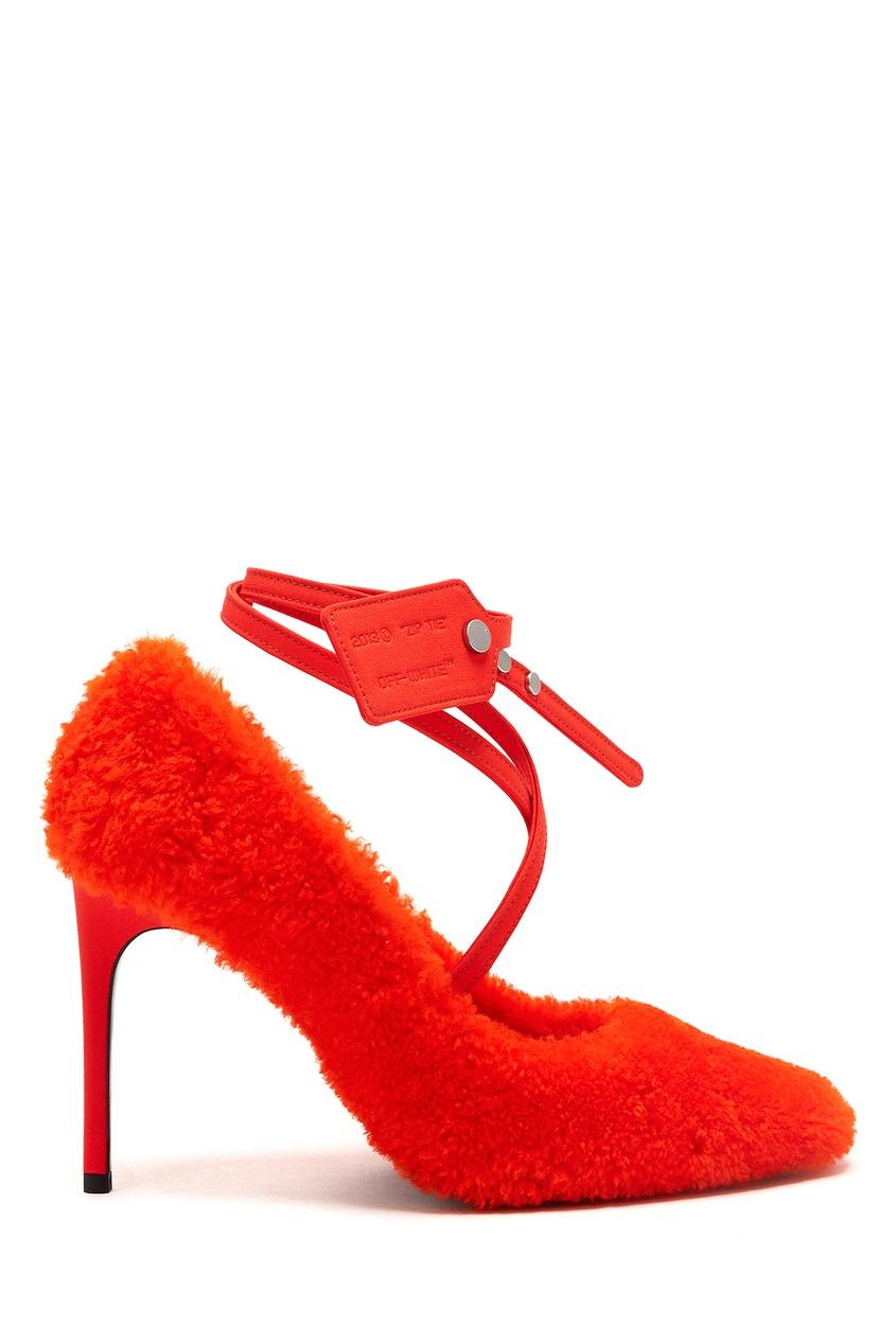 женские туфли off-white, оранжевые