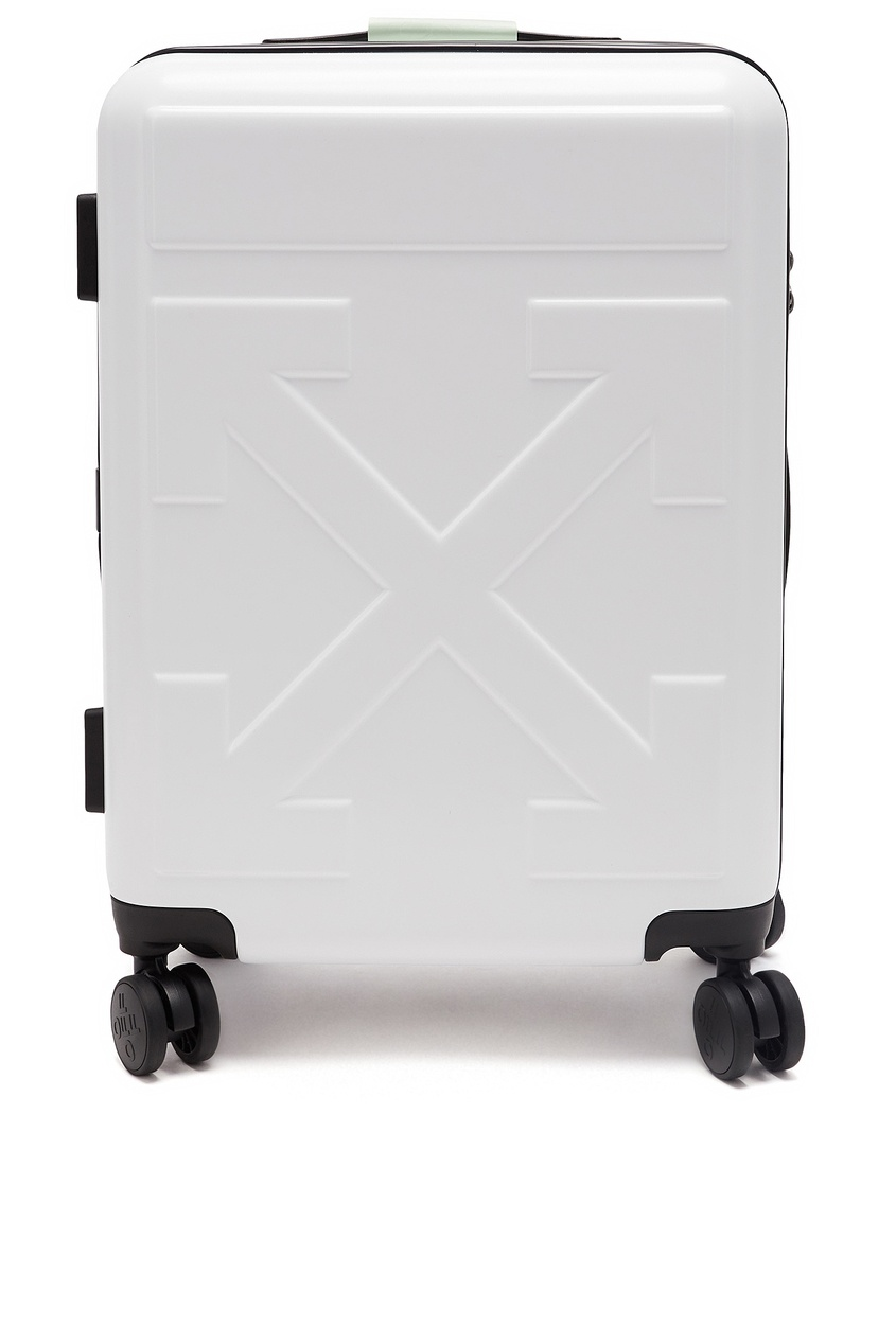 женский чемодан off-white, белый