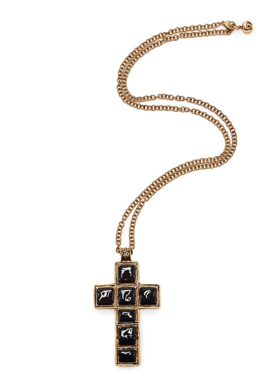 Ожерелье с крестом от Gucci