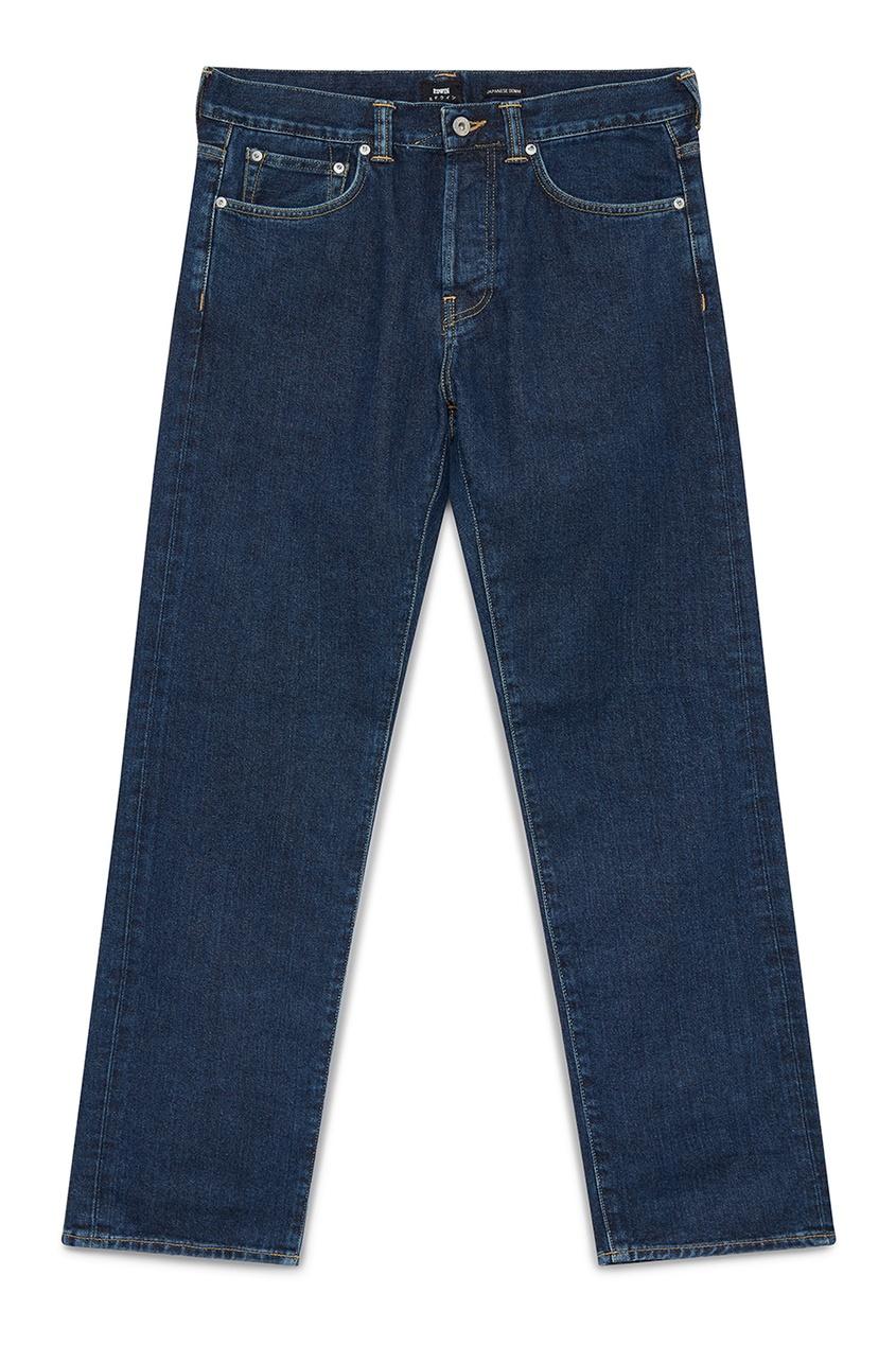 мужские потертые джинсы edwin, синие