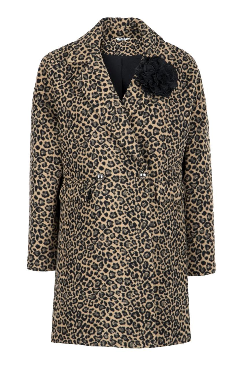 женское двубортные пальто liu jo, леопардовое