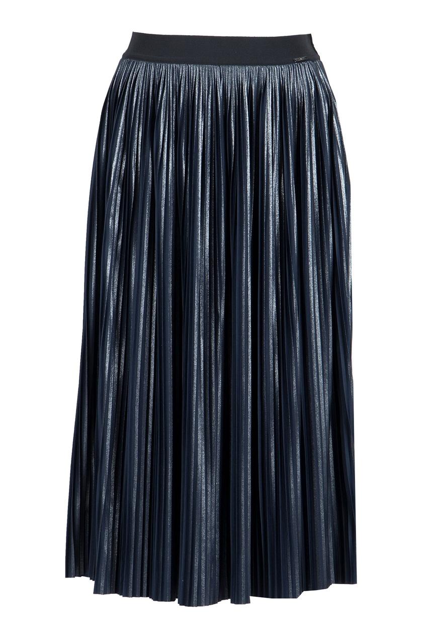 женская юбка миди liu jo, синяя