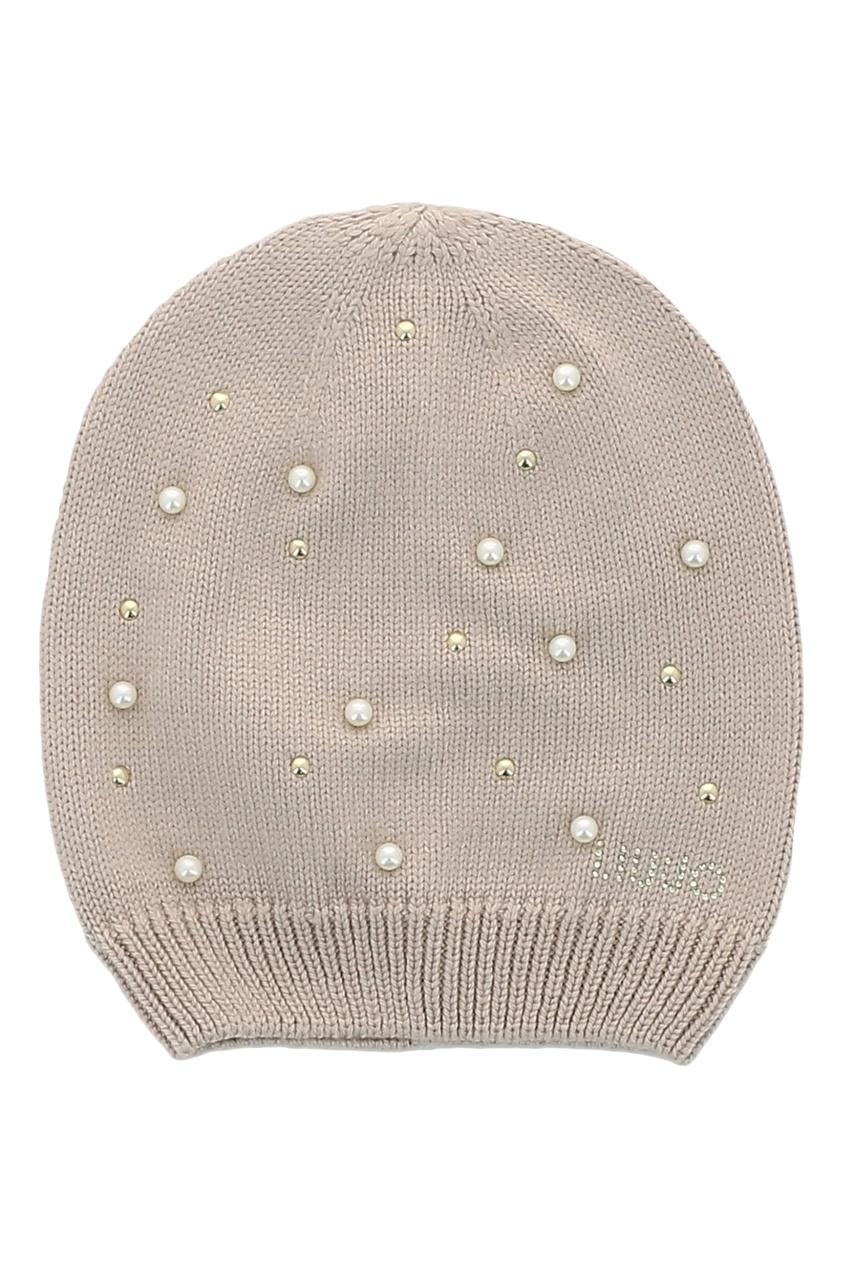 женская вязаные шапка liu jo, бежевая