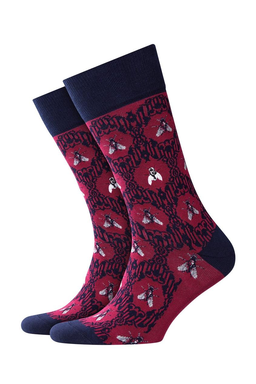 мужские носки burlington, бордовые