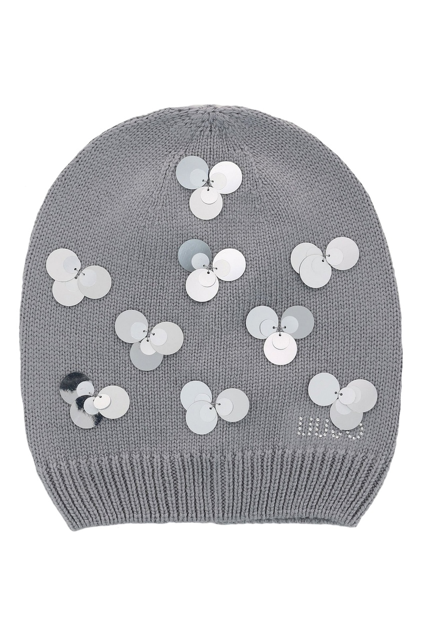 Серая шапка с пайетками от Liu Jo