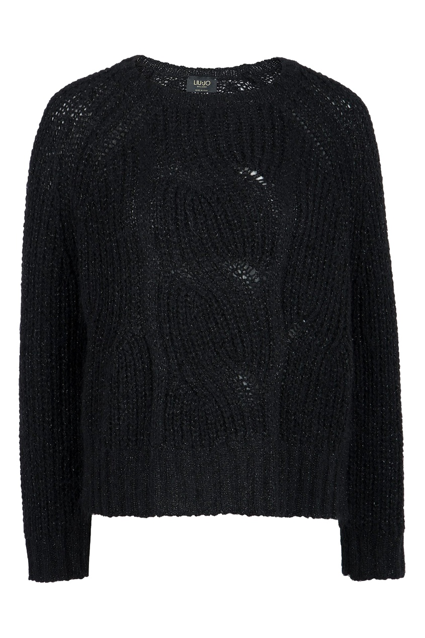 женский свитер liu jo, черный