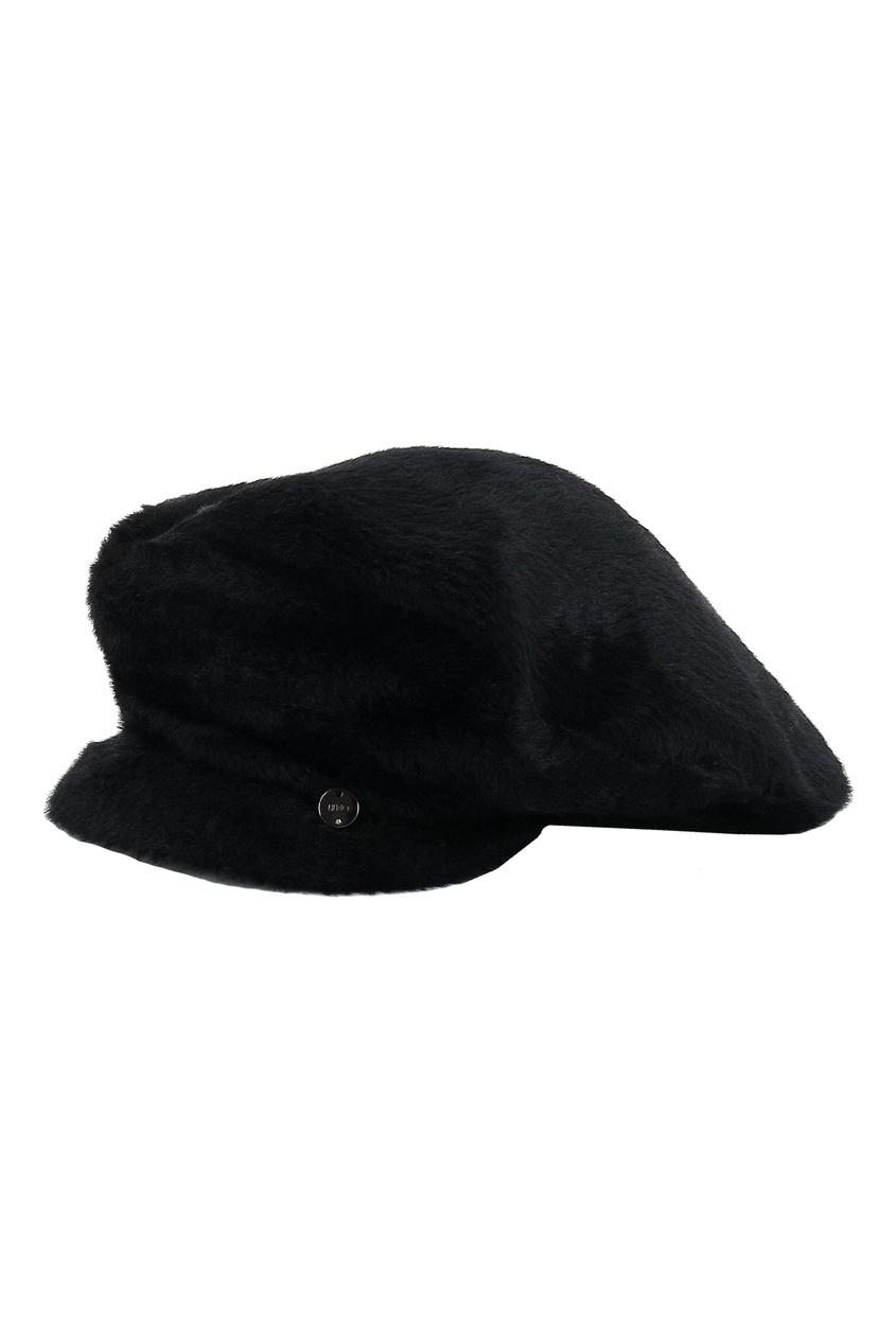 Черное кепи с декором от Liu Jo