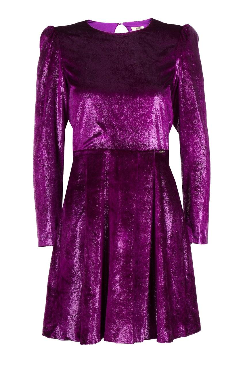женское платье с открытой спиной liu jo, фиолетовое