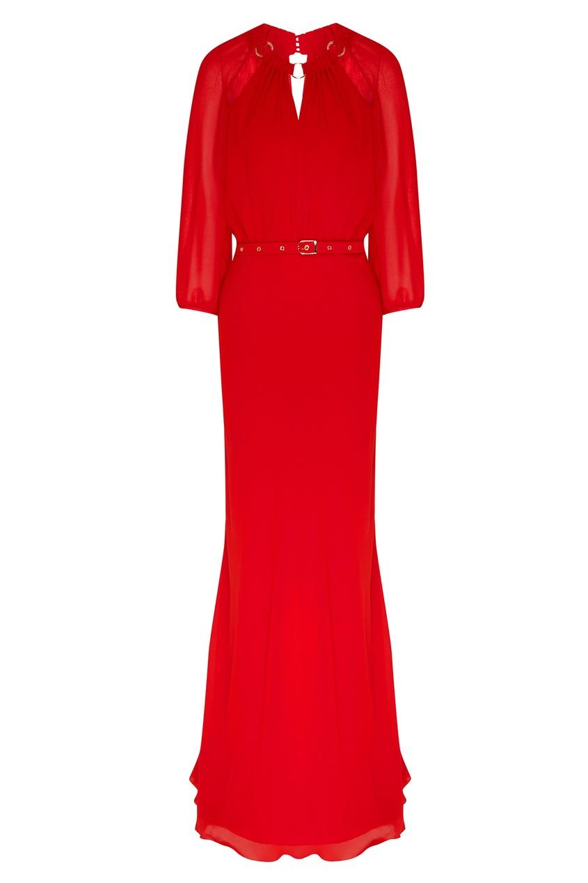 женское платье макси laroom, красное
