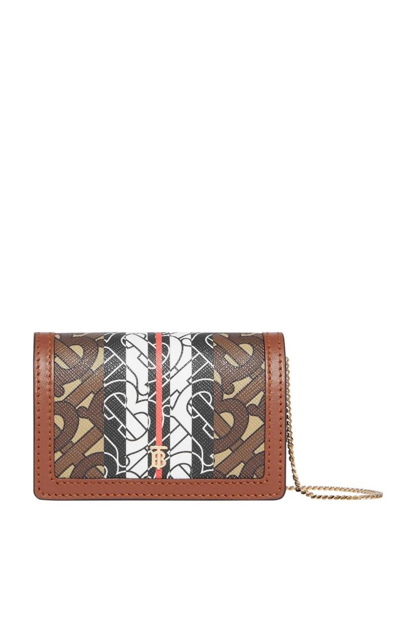 Маленький кошелек из текстиля и кожи от Burberry