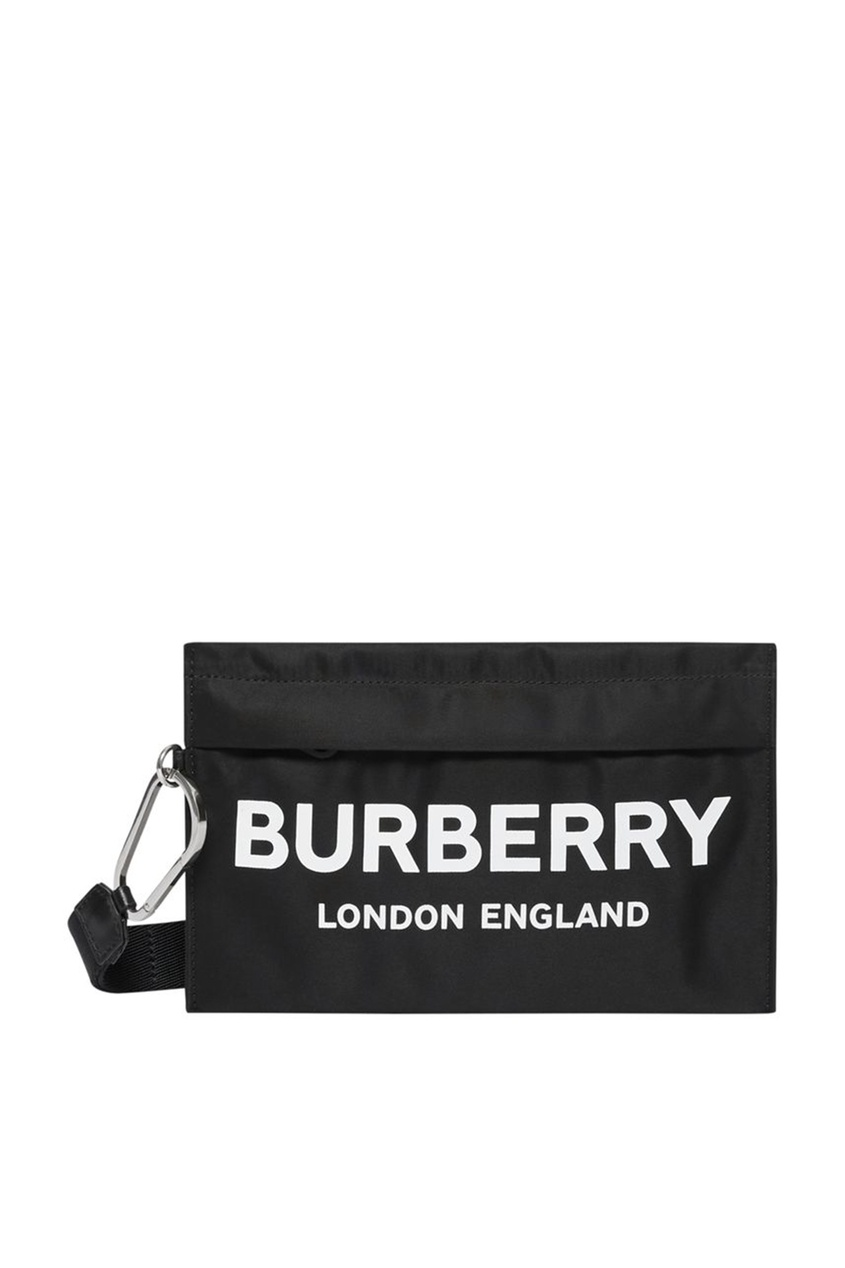 Черный клатч из текстиля от Burberry