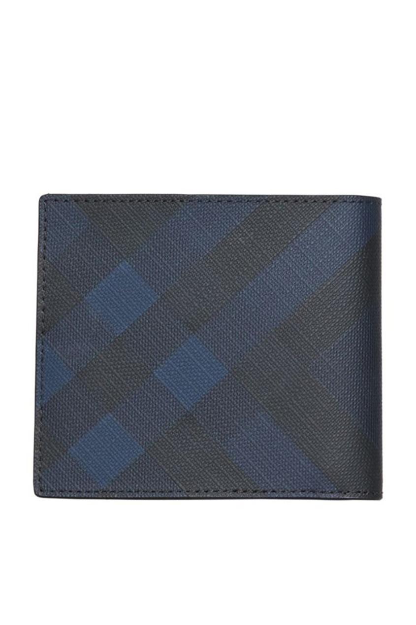 Складной кошелек синего цвета от Burberry