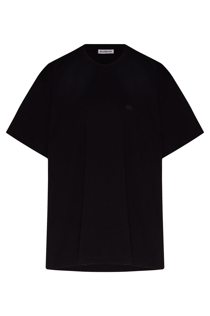 женская футболка balenciaga, черная