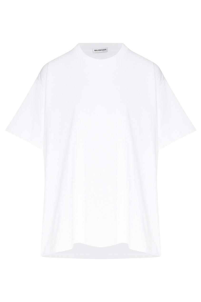 женская футболка balenciaga, белая