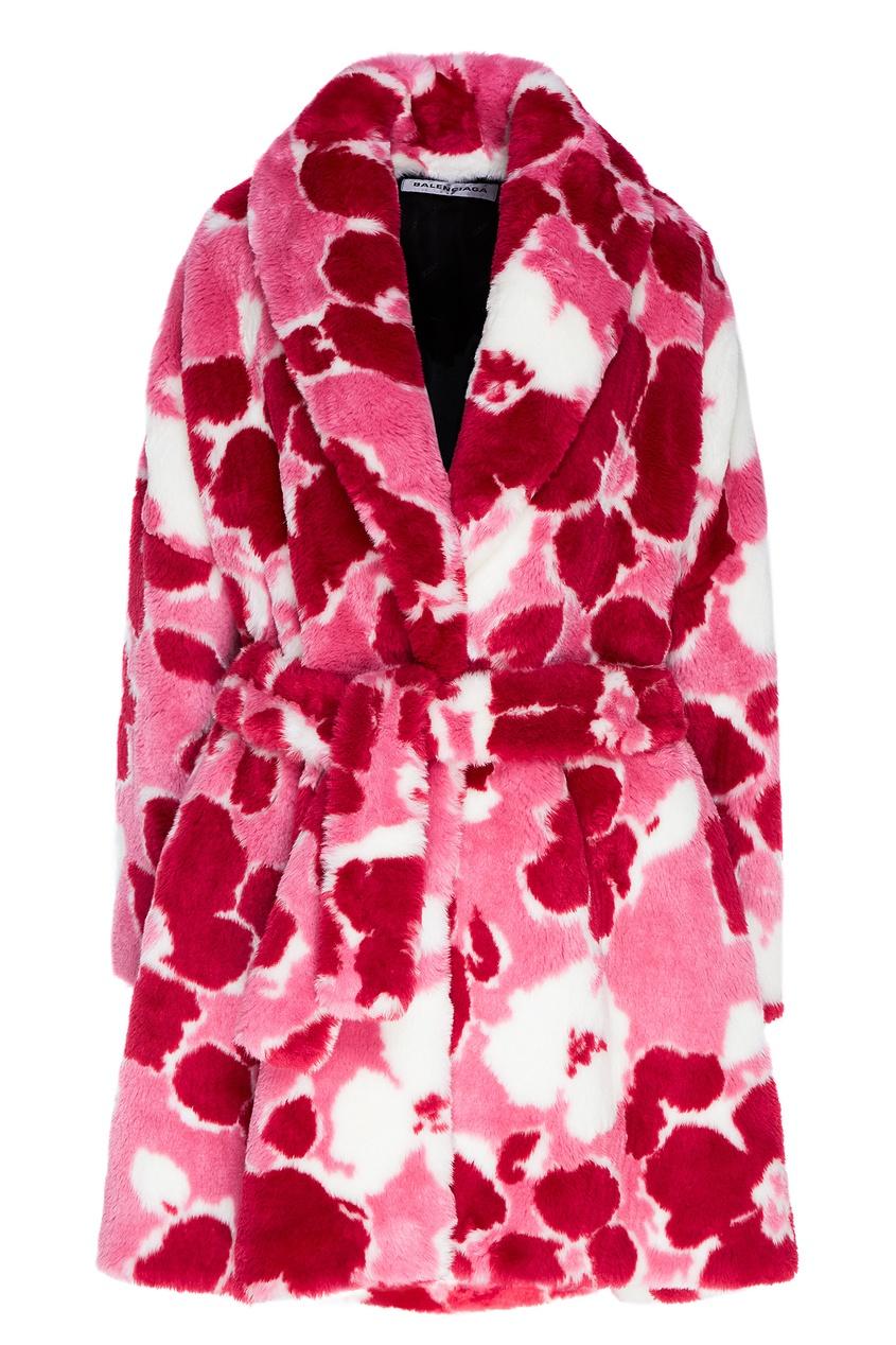 женское пальто balenciaga, розовое