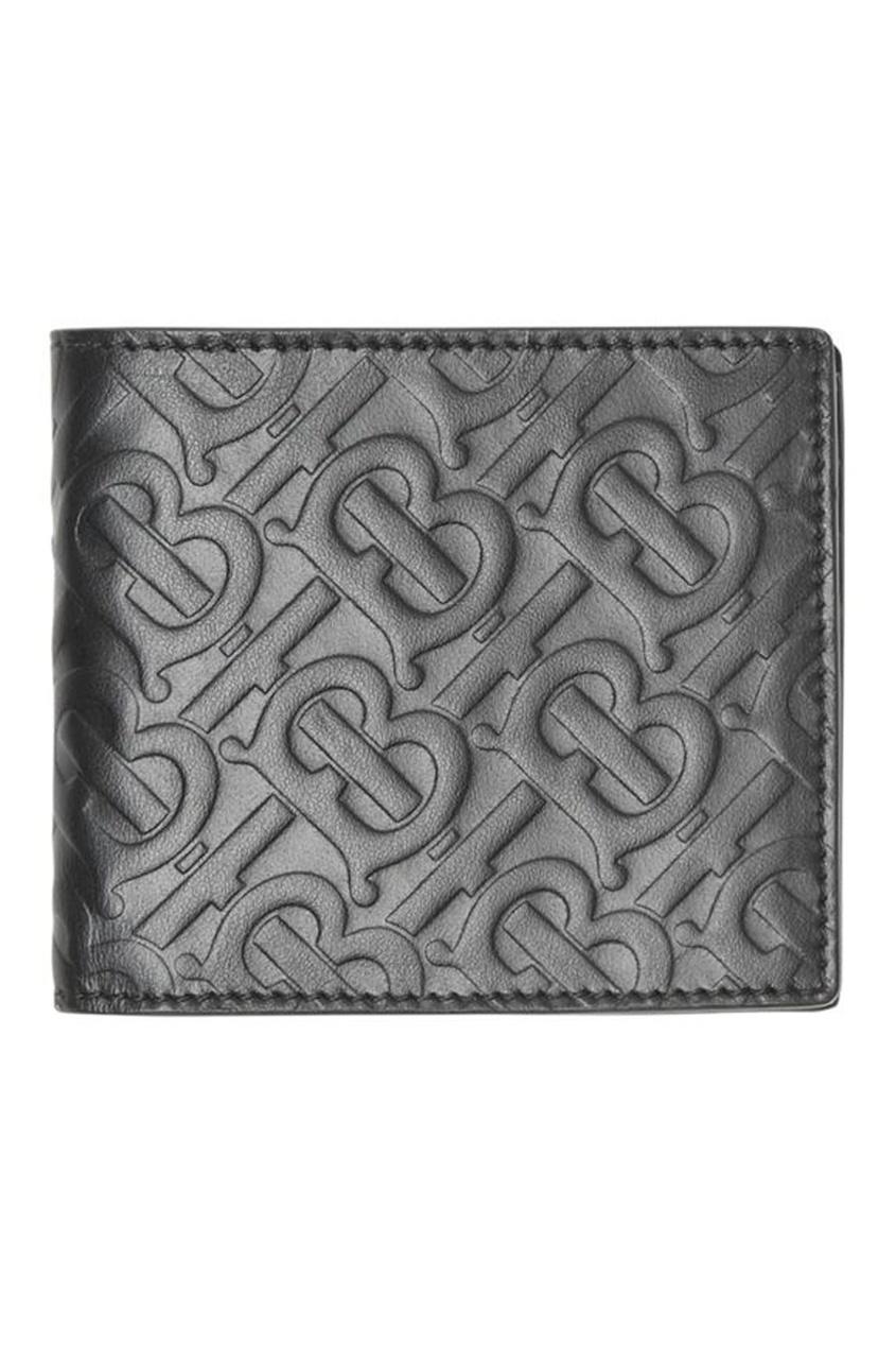 Черное кожаное портмоне от Burberry