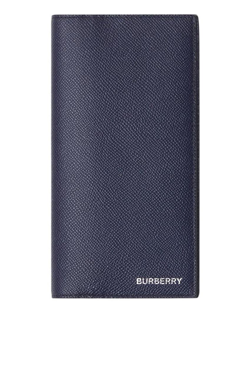 Синий кожаный фуляр для карт от Burberry