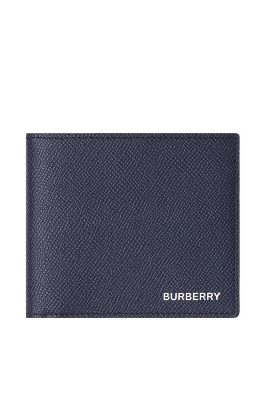 мужское портмоне burberry, синее