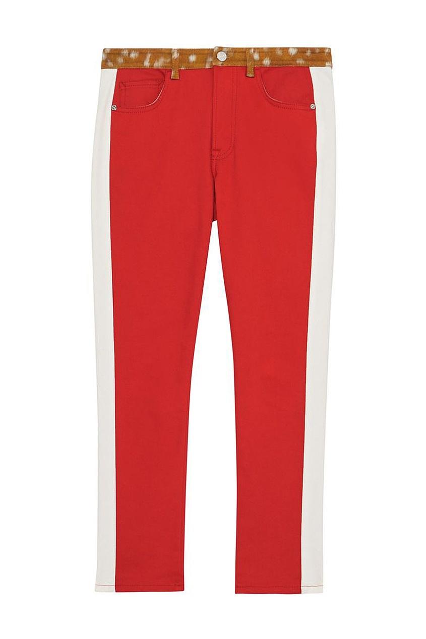 Узкие джинсы с принтованным поясом от Burberry