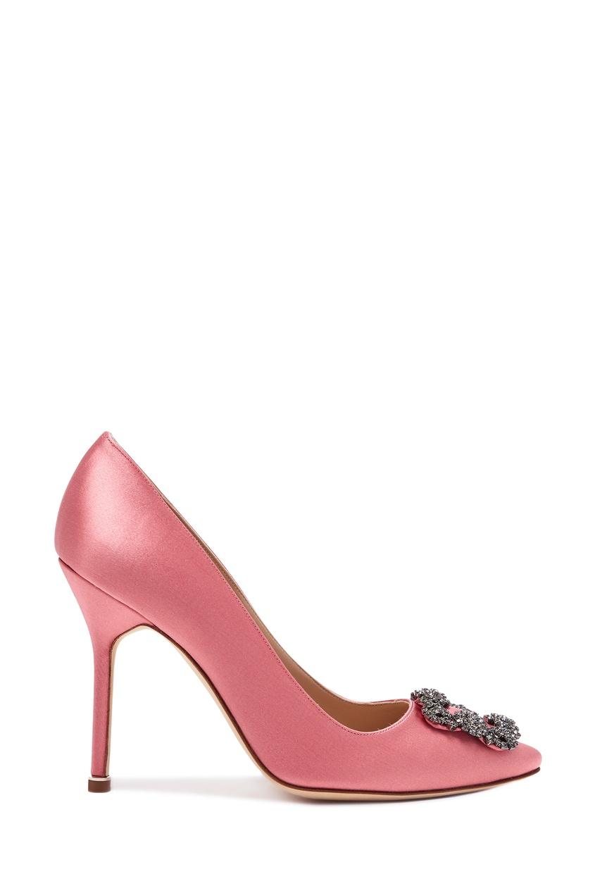 женские туфли manolo blahnik, розовые