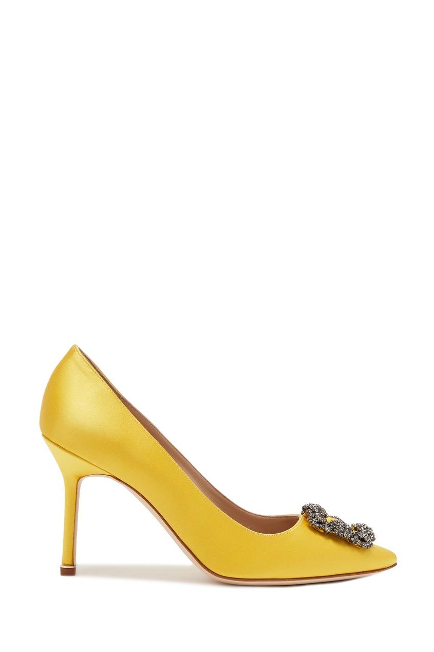 женские туфли manolo blahnik, желтые