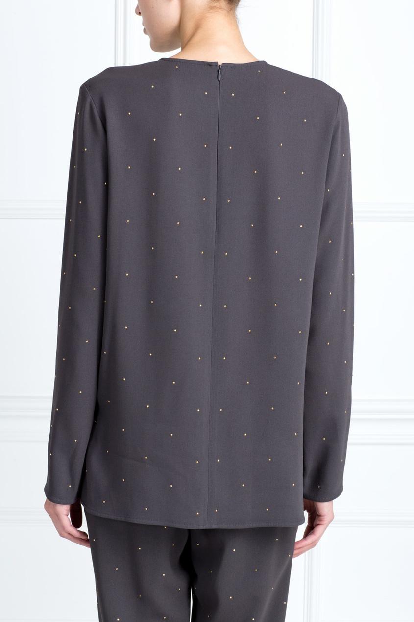 Фото 4 - Асимметричный топ от Stella McCartney серого цвета