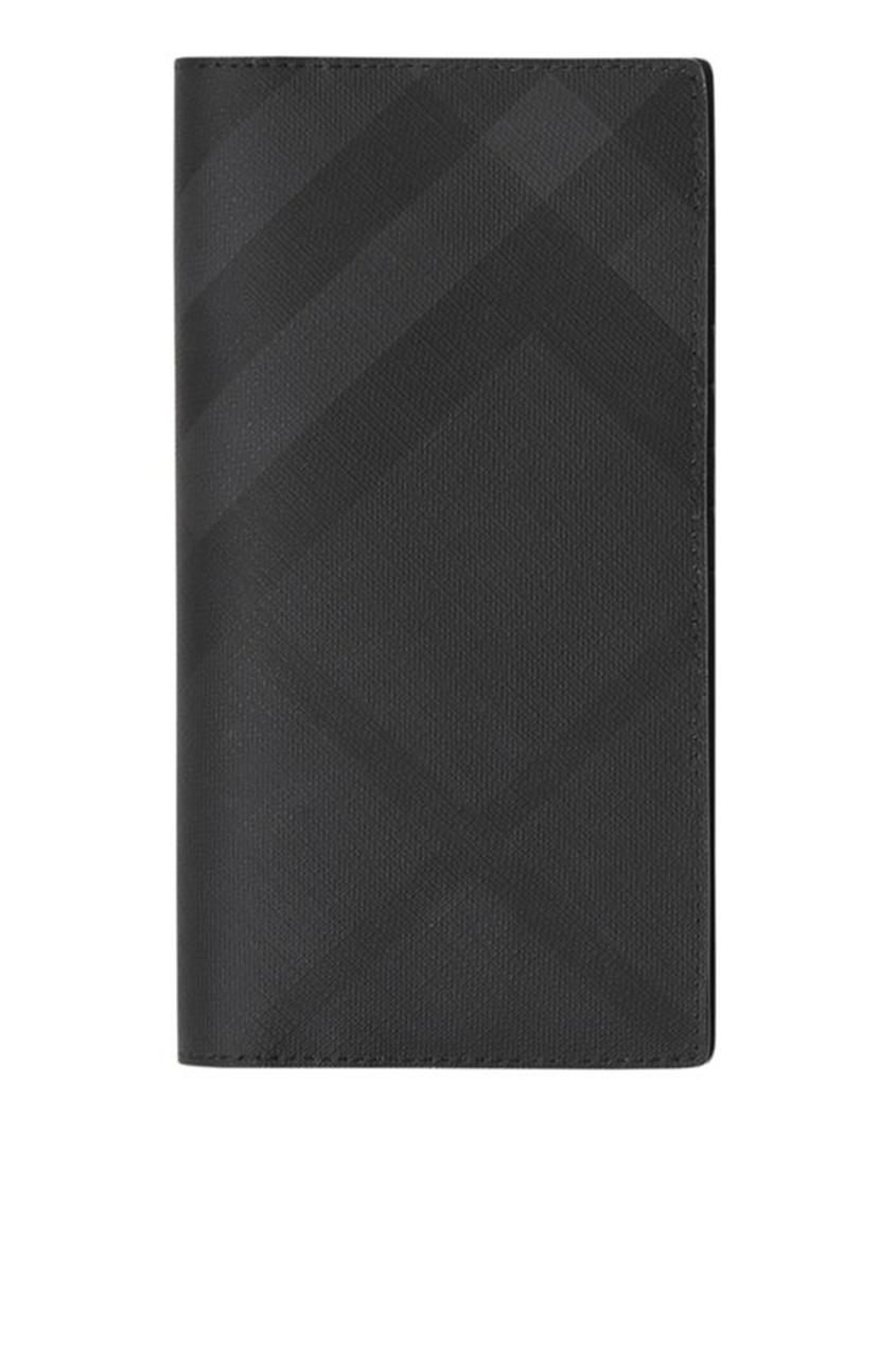 Черный бумажник в клетку от Burberry