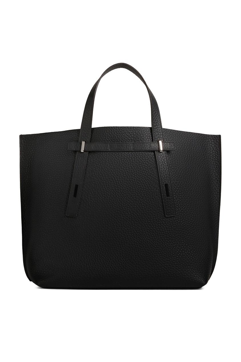 мужская кожаные сумка furla, черная