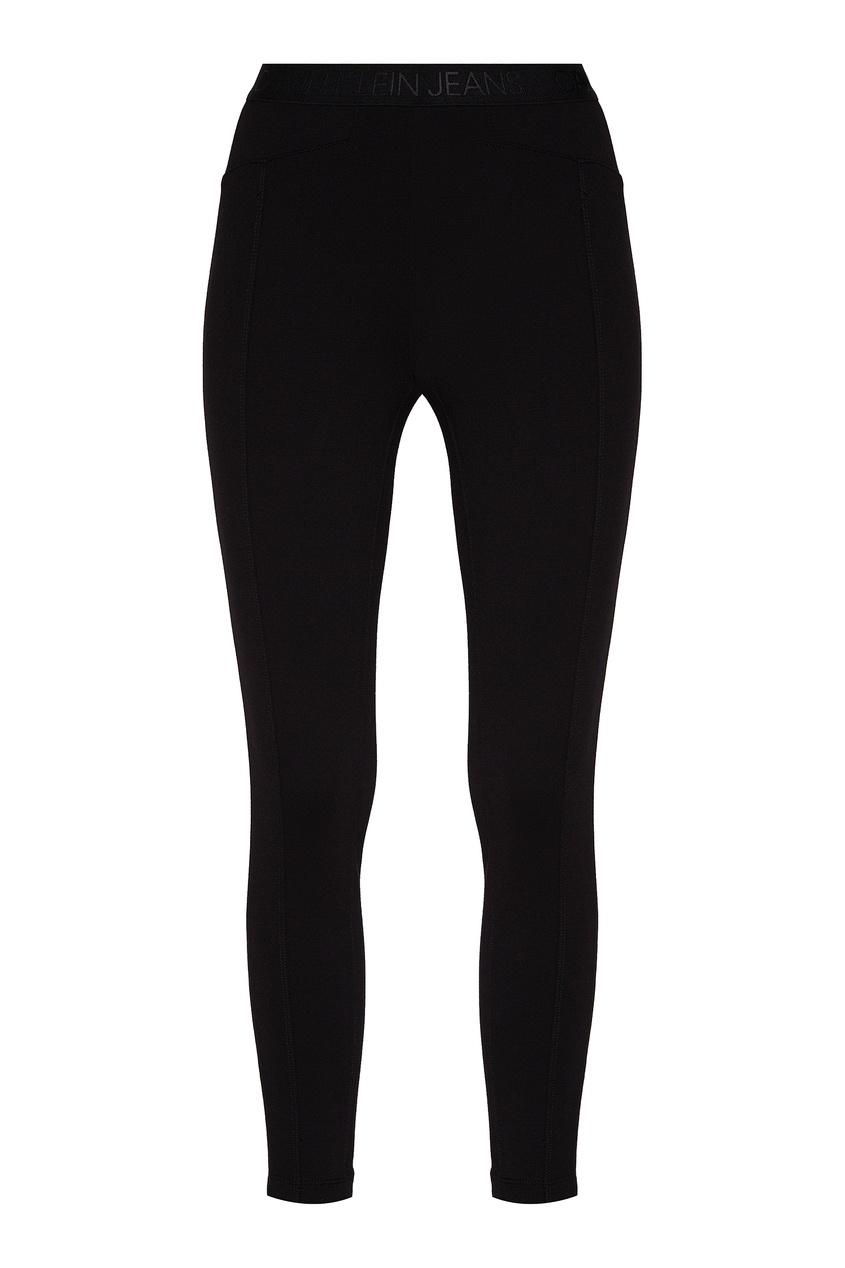 Черные брюки с логотипом от Calvin Klein