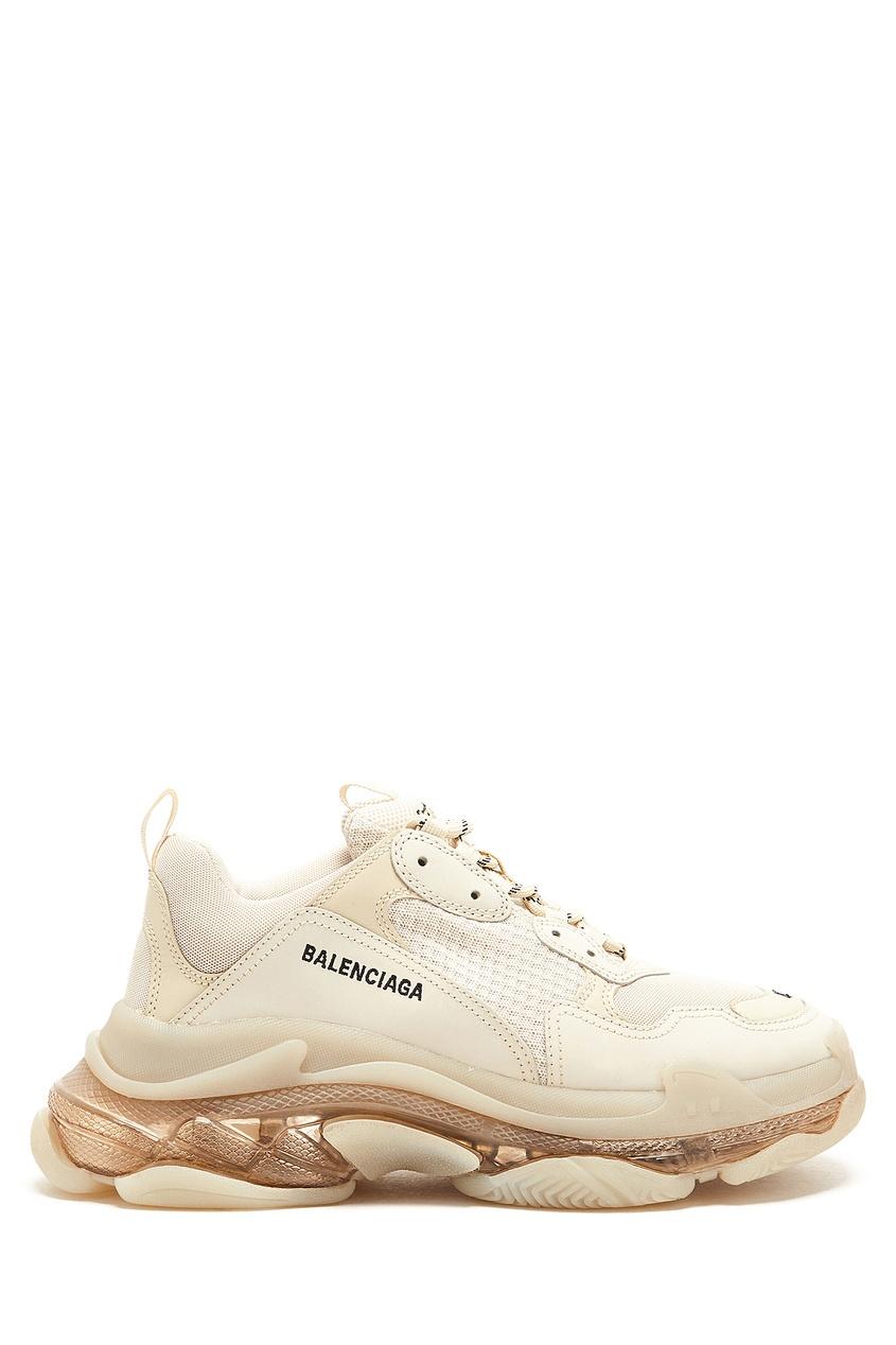 мужские кроссовки balenciaga man, белые