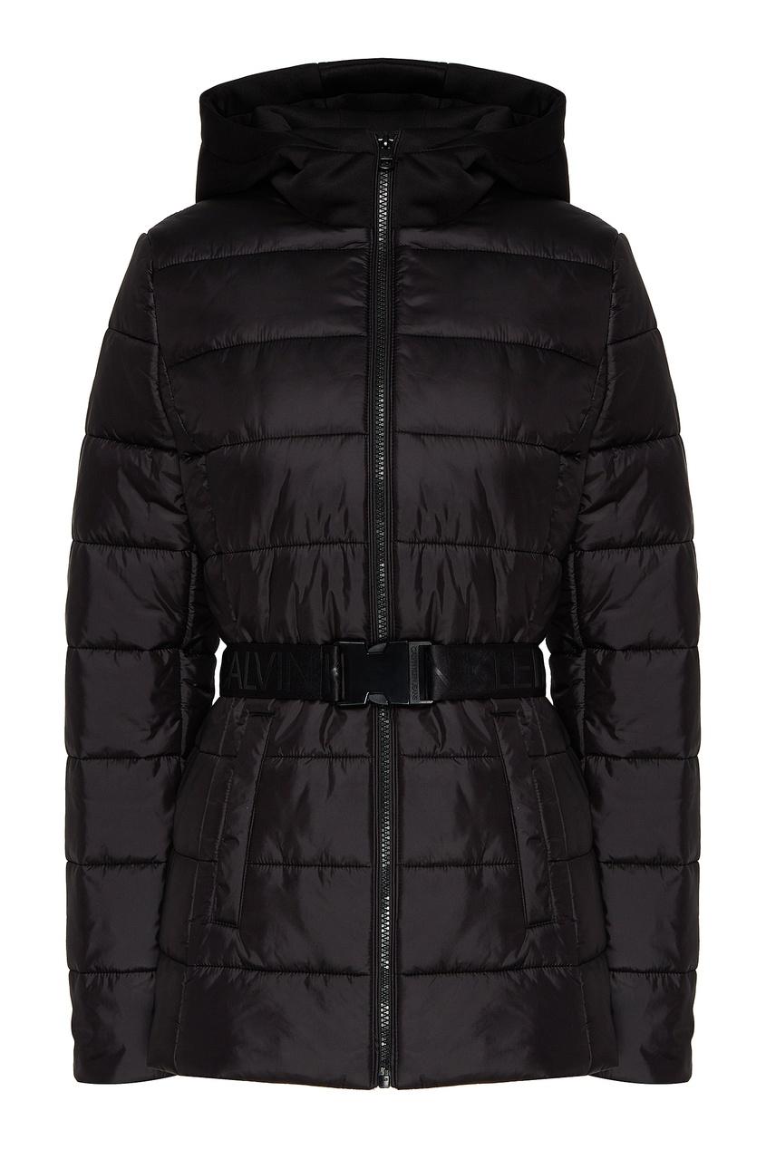 Стеганая куртка с поясом от Calvin Klein