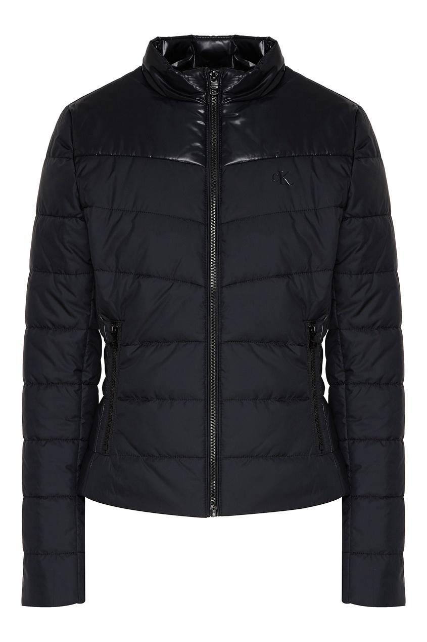 Стеганая куртка черного цвета от Calvin Klein