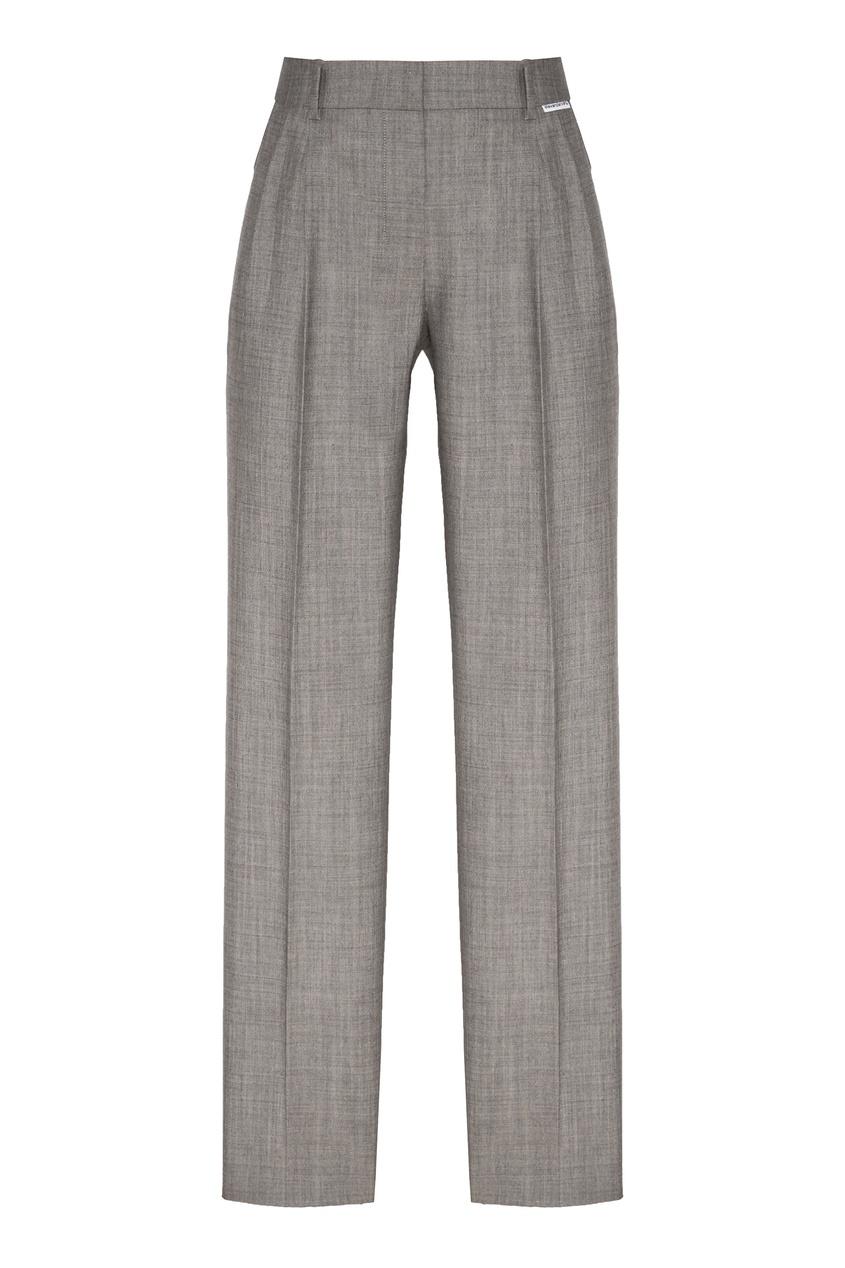 женские зауженные брюки alexander wang, серые