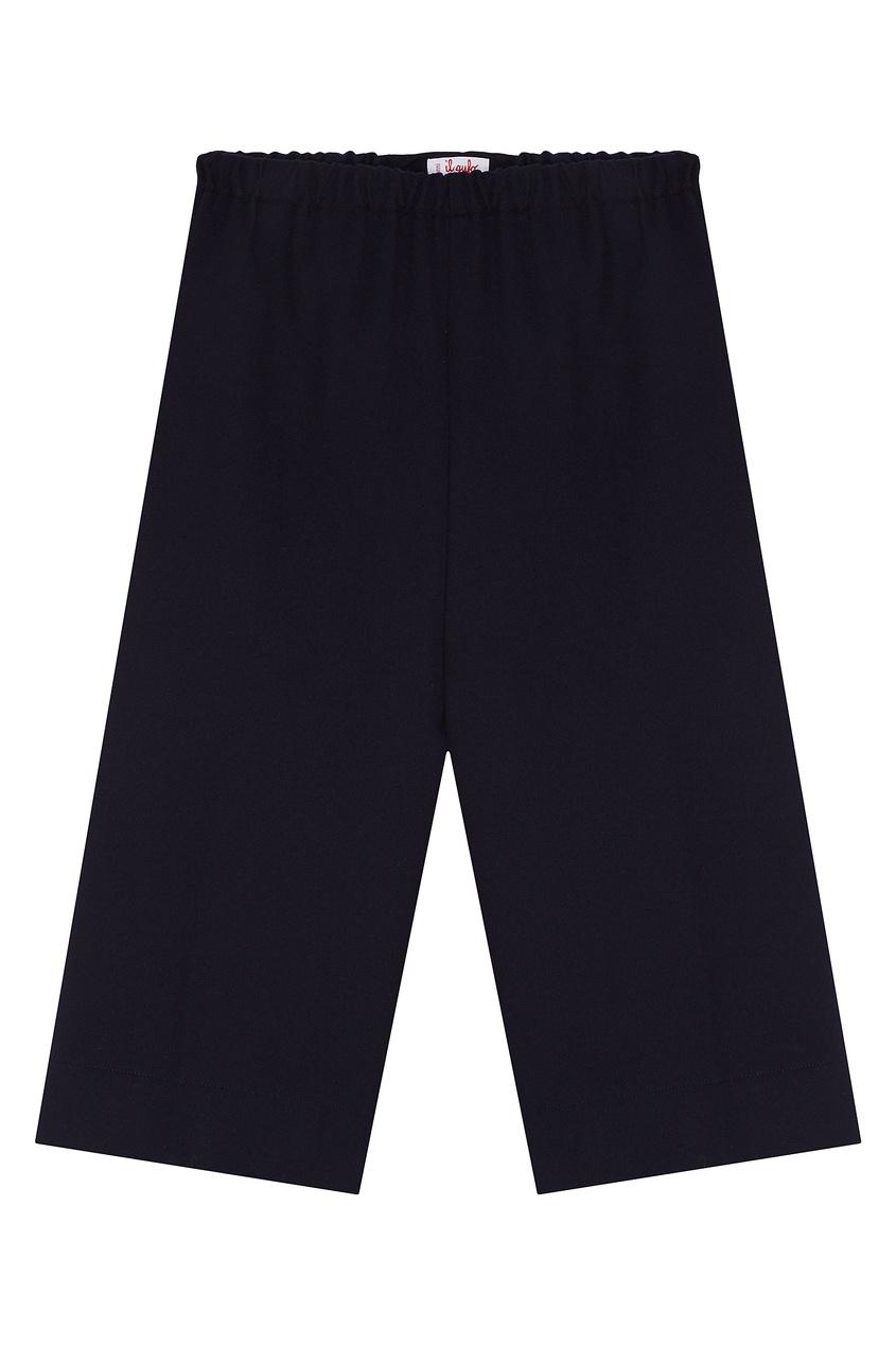 Синие брюки на поясе-резинке от Il Gufo