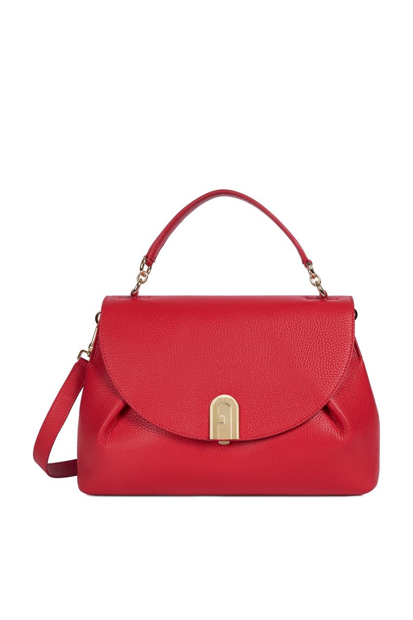 женская сумка-тоут furla, красная