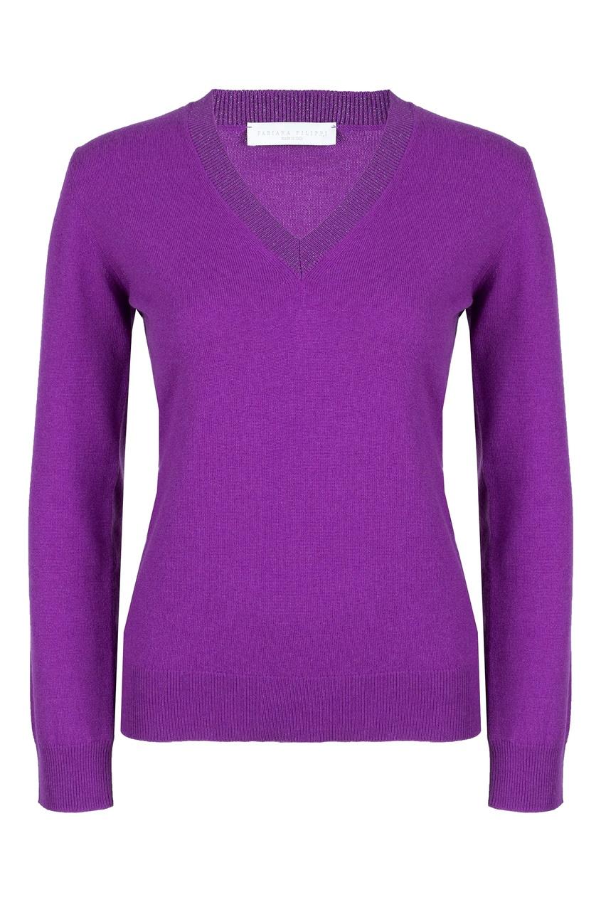 женский пуловер fabiana filippi, фиолетовый