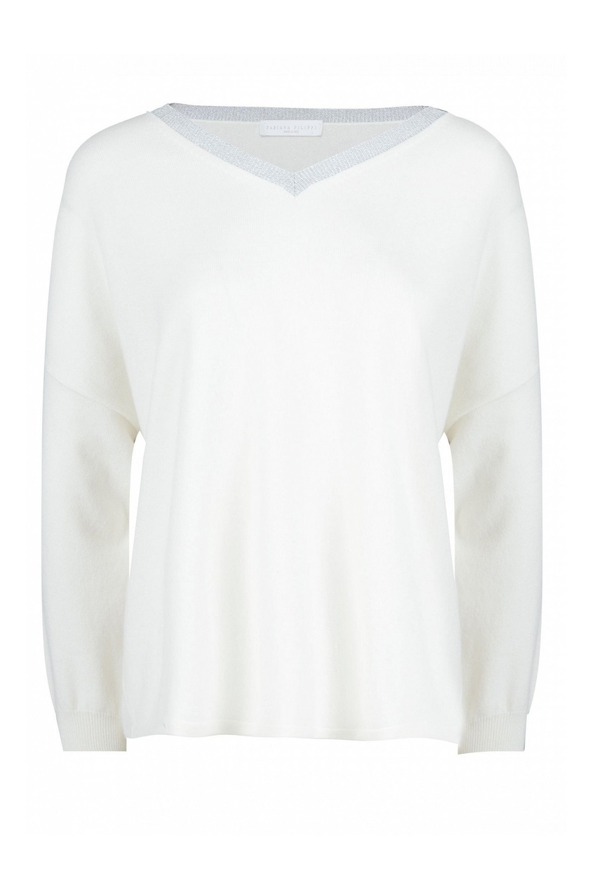 женский пуловер fabiana filippi, белый