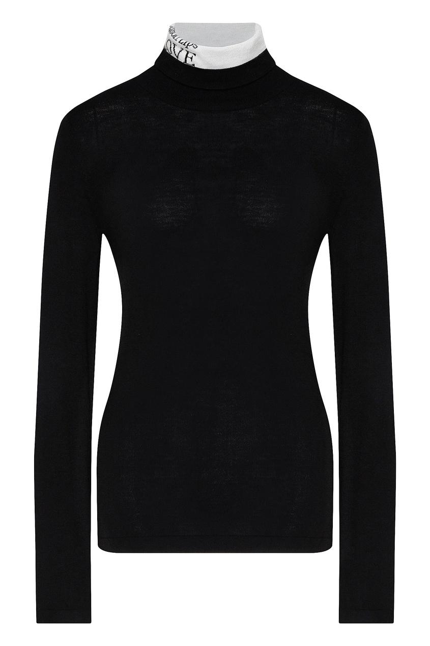 Черный свитер с декором на горловине от Silvian Heach