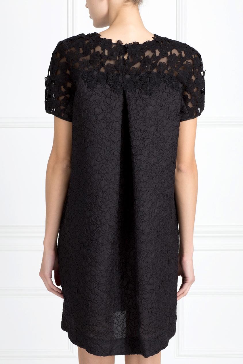 Фото 3 - Шелковое платье от Oscar de la Renta черного цвета