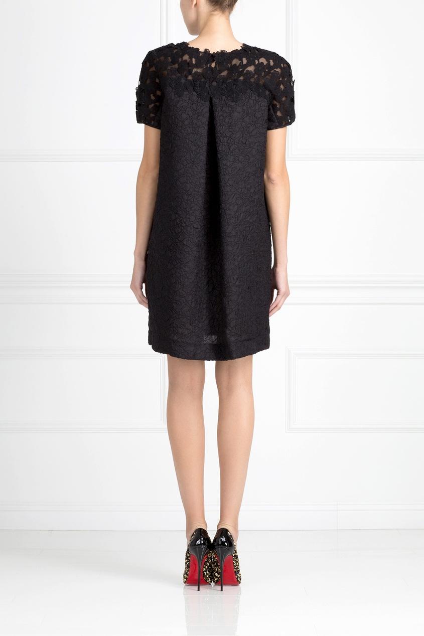 Фото 4 - Шелковое платье от Oscar de la Renta черного цвета