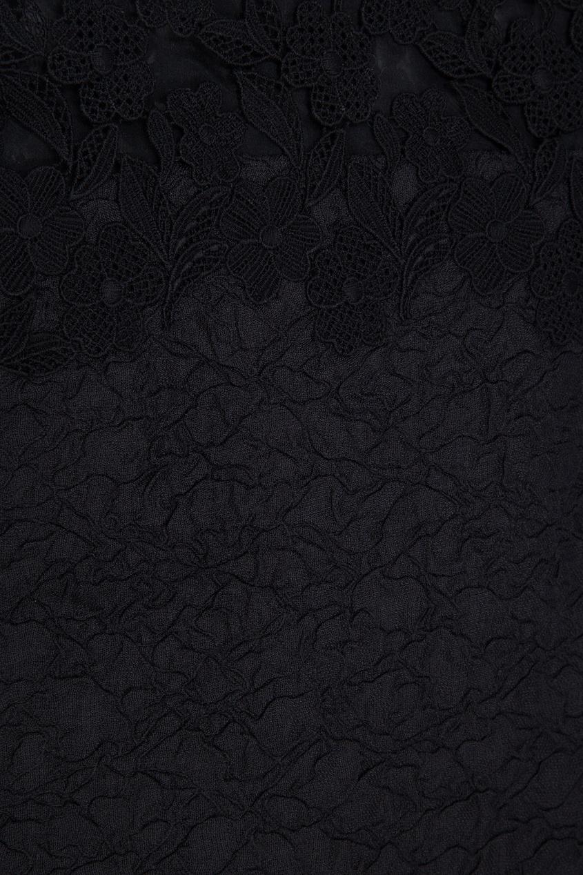 Фото 6 - Шелковое платье от Oscar de la Renta черного цвета