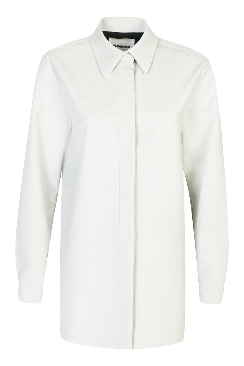 женская рубашка jil sander navy, серая