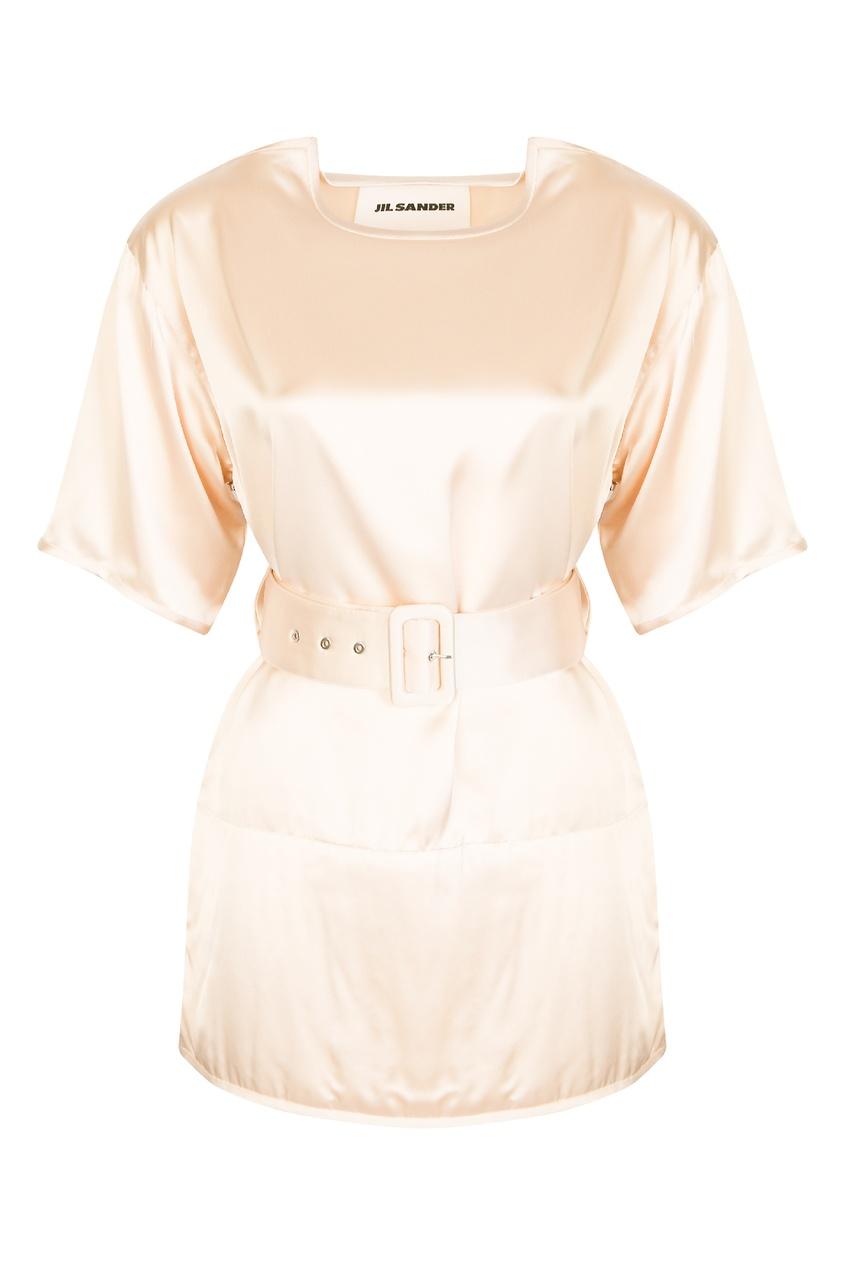 женская блузка jil sander navy, золотая
