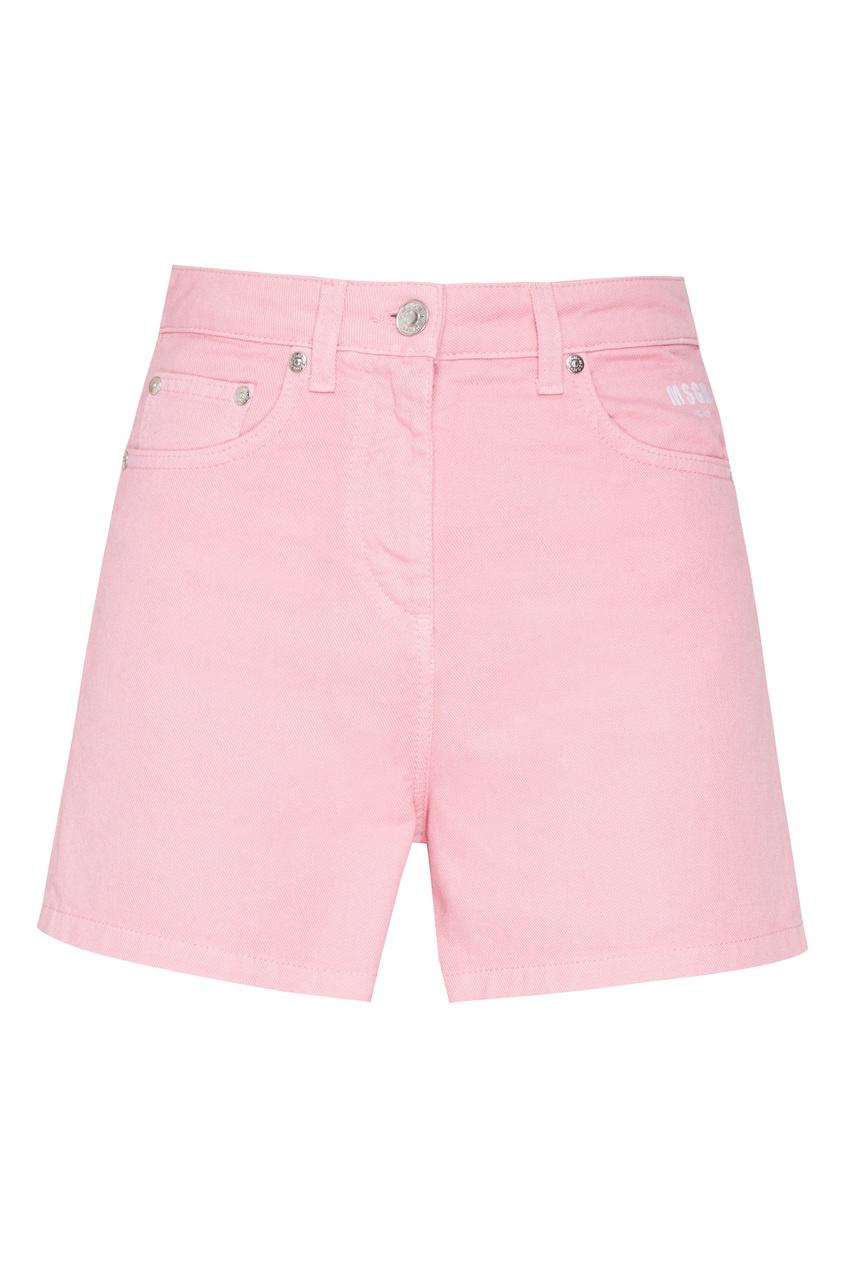 женские шорты msgm, розовые
